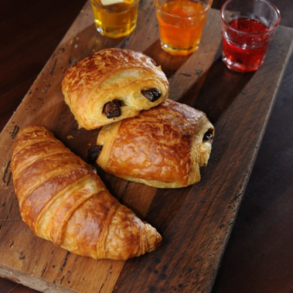 French Croissant and Pain au Chocolat
