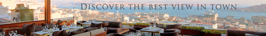 Georges Hotel Istanbul, the best view on the Bosphorus - french restaurant terrace bar